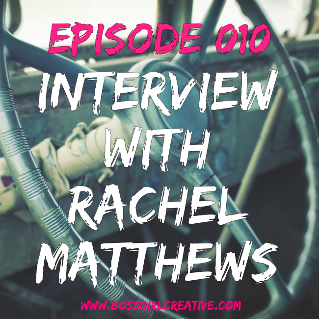 In the latest BGC Episode 010 I'm interviewing Rachel Matthews of A Southern Fairytale