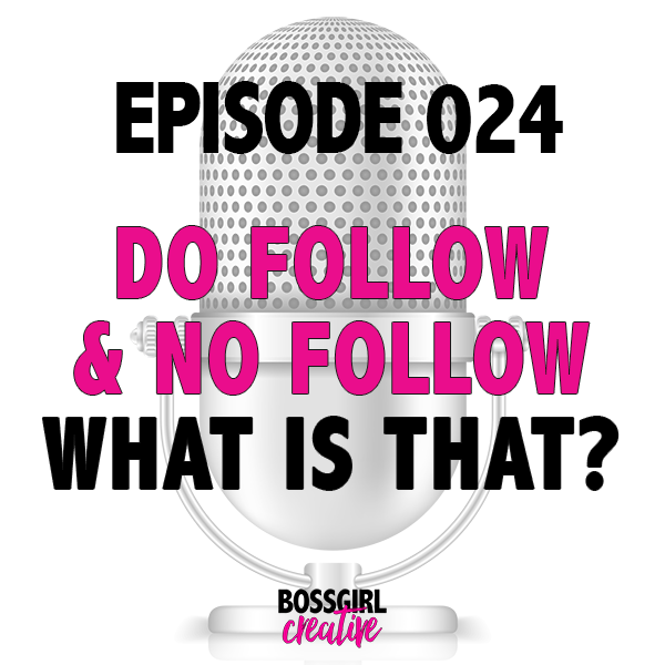 EPISODE 024 - DO FOLLOW & NO FOLLOW...WHAT IS THAT??