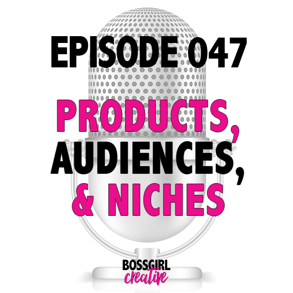 EPISODE 047 - PRODUCTS, AUDIENCES & NICHES