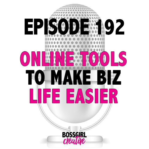Biz life can be stressful and overwhelming sometimes. Take some of that stress away by using a few of these tools mentioned in Episode 192 of the #BOSSGIRLCREATIVE podcast. #onlinebusiness #creativeentrepreneur